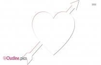 Arrow Piercing Heart Clip Art Outline