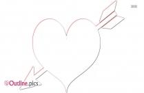 Heart With Arrow Clip Art Outline