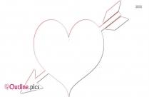 Heart And Arrow ClipArt Outline