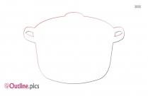 Cooking Pot Clip Art Outline