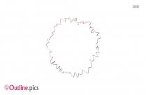 Hibiscus Flower Outline Design