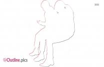 Sitting Businessman Outline Image