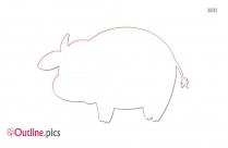 Cow Cartoon Outline Image