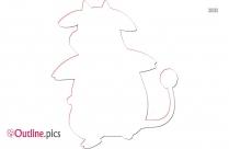 Cow Pokemon Outline Design
