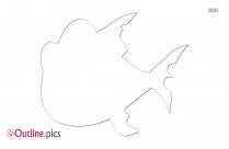 Platecarpus Outline Free Vector Art