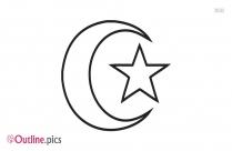 Crescent Moon Outline Symbol