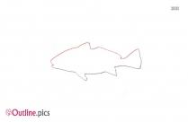 Dunkleosteus Fish Outline Design