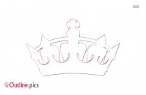Gold Tiara Crown Outline