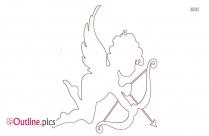 Cute Cupid Love Silhouette