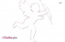 Cupid Girl Outline