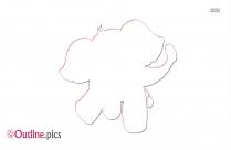 Baby Giraffe Outline Art
