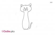 Outline Of Cartoon Cat
