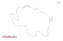 Cute Elephant Outline Free Vector Art