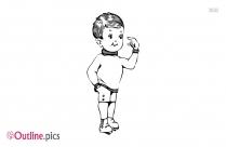 Cute Little Boy Outline Picture
