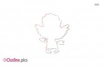 Cute Cupid Outline