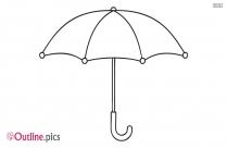 Folded Umbrella Outline Image