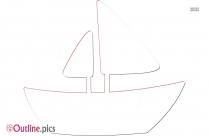 Cartoon Speed Boat Outline Image
