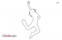 Flamenco Female Dancer Outline