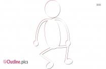 Stick Figure Running Outline Image