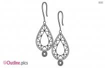 Dangle Earrings Outline Design