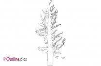 Dead Tree Outline Image