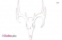 Deer Skull Outline Icon