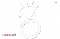 Diamond Ring Outline Clip Art