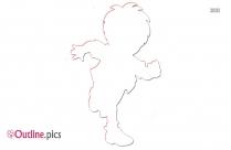 Dora The Explorer Outline Sketch Image