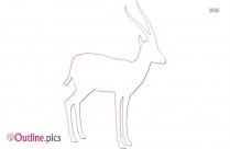 Dikdik Vector Outline Image