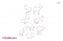 Impala Clipart Animal Outline