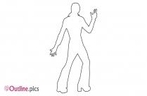 Disco Girl Outline Vector