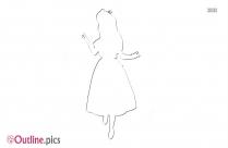 Snow White Disney Princess Photo Outline