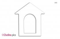 Dog House Clip Art, Outline Image