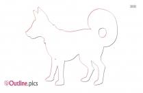 Dog Outline Background