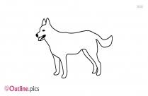Yorkshire Terrier Dog Breed Outline Image