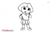 Dora Art Outline Clipart