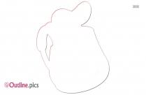 Dora Backpack Outline Free Vector Art