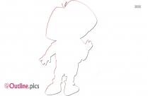 Dora The Explorer Outline Sketch