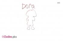 Pics Of Dora Outline