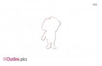 Cartoon Characters Dora The Explorer Outline