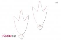 Duck Footprints Outline Design