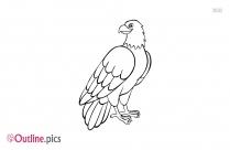 Eagle Outline Tattoo Design