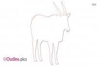 Eland Animal Outline Sketch
