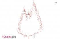 Free Christmas Tree Cartoon Drawing Outline