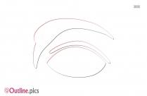 Eyebrow Shapes Outline Clip Art