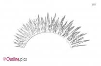 Eyelash Sketches Outline