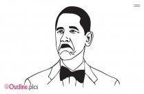Obama Outline Art Image