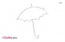 Umbrella Bridal Shower Outline Image