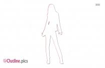 Girl Outline Clip Art