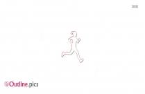 Male Preschool Runner Outline